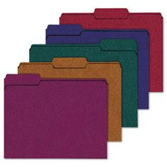 Ampad Recycled Color File Folders - Choose a color for each different theme. This makes for quick and easy access when looking for what you are looking for when you need it.