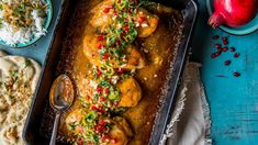 - Kylling i Kremet Mango Saus - Chicken in a Creamy Mango Chutney Sauce with a kick of Curry - make it as strong or not. Food N, Food And Drink, Always Hungry, Lunches And Dinners, Chutney, Food To Make, Chicken Recipes, Mango, Curry