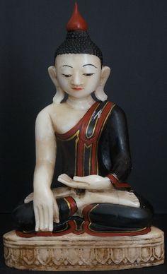 Burmese Marble Shan Buddha Statue 19th Century