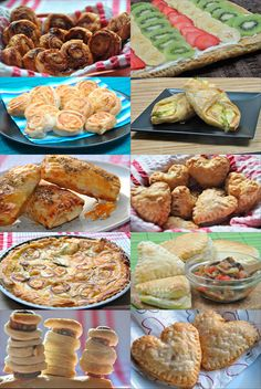 10 Recetas Fáciles con Hojaldre Appetizer Recipes, Dinner Recipes, Appetizers, Empanadas, Savoury Dishes, Cookie Desserts, Sweet Recipes, Food Porn, Cooking Recipes