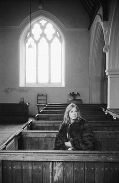 Marianne Faithfull by Terry O'Neill, early 1970s.