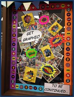 Graphic Novels and Comic Book Library Display