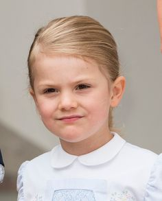 Princess Estelle of Sweden at the 39th birthday celebrations for Crown Princess Victoria at Solliden on July 14 2016 in Oland Sweden
