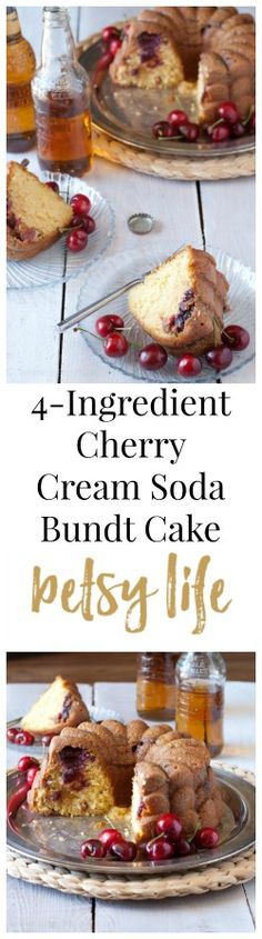 4-Ingredient Cherry Cream Soda Bundt Cake. You only need a few ingredients to make this epic summer dessert recipe.