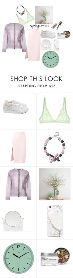 """easy brezzy"" by labellavita6two ❤ liked on Polyvore featuring Veja, Cosabella, MSGM, Eshvi, Golden Goose, PèPè, russell+hazel, Fig+Yarrow, cutecardigan and springlayers"