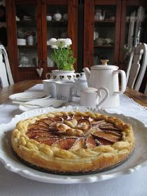 PASTU domov: Hruškový koláč s pudinkem Pie, Desserts, Torte, Tailgate Desserts, Cake, Deserts, Fruit Cakes, Pies, Postres