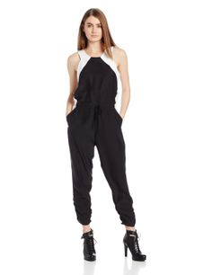 96633ed9ce17 Amazon.com  Parker Women s Kaysha Combo Sleeveless Jumpsuit