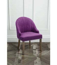 Kariss Mulberry Upholstered Occasional Chair