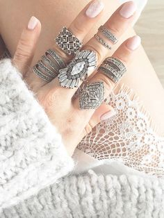 Don't make me choose.  Let your inner warrior illuminatewith this enchanted sterling silver ring. Astunning silhouette with brilliant cubic zirconia crystals and filigree detailing