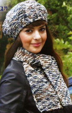 Берет и шарф спицами
