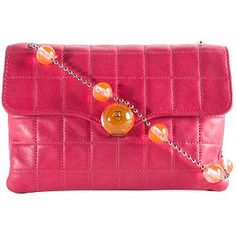 Chanel Square Quilted Jeweled Flap Shoulder Handbag