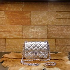 Chanel handbag mini (lame) caviar