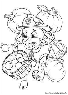 Marshall - Thanksgiving Paw Patrol coloring page