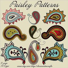 Paisley Patterns PNG Files Paisley Graphics by CheriesArtsnCrafts #paisley #clipart #graphics