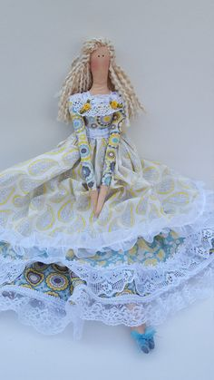 Handmade cloth doll Julianne Tilda doll by LaShellesBelles on Etsy