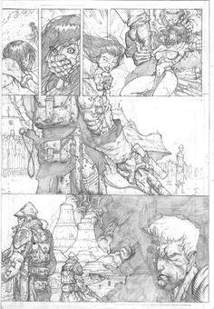 Pencils from Stephen Platts Soul Saga. Comic Book Pages, Comic Book Artists, Comic Books Art, Comic Art, Soul Saga, Comic Book Drawing, David Finch, Comic Layout, Comic Panels