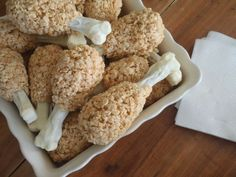 infusedreviews: Recipe Find: Turkey Leg Rice Krispie Treats #turkeyleg #thanksgiving