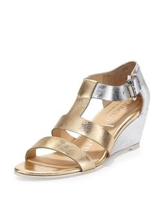 Absolute Wonder Metallic Wedge Sandal, Silver by Nanette Lepore at Neiman Marcus. Forget Espadrille, this is the new shoe.