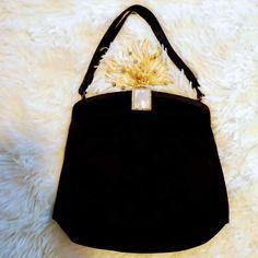 Women's Vintage 1940's Satin Evening Bag