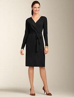 Talbots - Matte Jersey Wrap Dress   Dresses   Petites