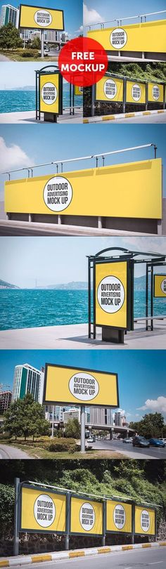 Free PSD: Outdoor Advertising Mockup by Mucahit Gayiran #mockup #psd