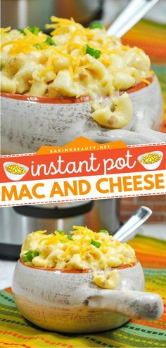 Instant Pot Mac and Cheese is a creamy and cheesy comfort food recipe ready in less than 20 minutes! This easy pasta dish is one of the most delicious recipes for dinner perfect for the family. Save… Creamy Pasta Recipes, Vegetarian Pasta Recipes, Healthy Pasta Recipes, Easy Recipes, Easy Thanksgiving Dinner, Crock Pot Food, Easy Potato Salad, Easy Pasta Dishes, Most Delicious Recipe