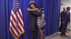 Tuvo una reacción *muy* diferente cuando conoció al presidente Obama.