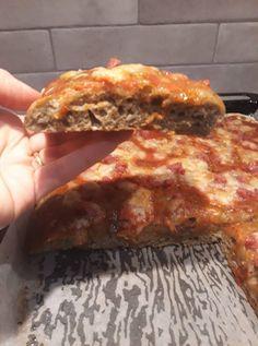 Pizza con farina di canapa senza glutine