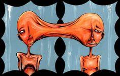 The Twins – Alex Pardee Alex Pardee, Lowbrow Art, Chandelier, Pop Surrealism, Weird Art, Sci Fi Art, Surreal Art, Trippy, Decoration
