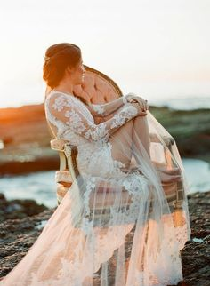 Seaside Bridal Inspiration Shoot from Bowtie & Bloom Photography.