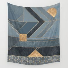 Nordic Blue Wall Tapestry