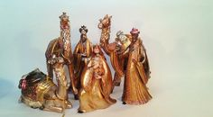 Rare Ornate Nativity Wise Men and Camels