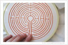 Sublime Stitching -  Labyrinths - for some reason I like the idea of putting this on a skirt...