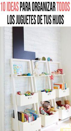 Nine brilliant, kiddo-optimized design ideas to keep a tidy playroom. möbel kinderzimmer 9 Kids Playroom Storage Ideas That Do The Cleaning For You Kids Playroom Storage, Playroom Organization, Playroom Design, Playroom Decor, Kids Room Design, Kids Decor, Bedroom Storage, Playroom Shelves, Attic Playroom