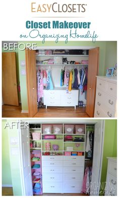 Organizing A Shared Kids Room Closet EasyClosets Makeover The Reveal