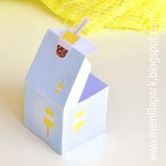 FREE printable summer popsicle favor box