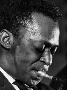 Jazz Musician Miles Davis Performing