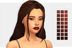 """ayoshi-sims: """" So I decided to create me first (probably last) lipstick. I'm really proud of it even through it may suck, but feel free to roast me if it does. Please enjoy and send me screenies if. Sims Four, Sims 4 Mm Cc, Sims 4 Mods, Maxis, The Sims 4 Cabelos, Pelo Sims, Sims 4 Cc Makeup, Sims4 Clothes, Sims 4 Characters"""