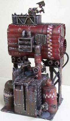 I don't know exactly what went into building this piece but it looks really cool on the battlefield.