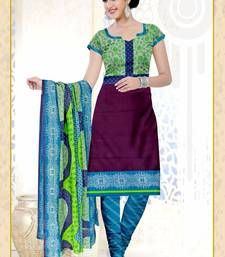 Buy multicolor printed cotton unstitched salwar kameez with dupatta cotton-salwar-kameez online