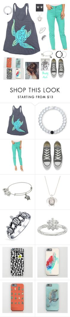 """""""Turtles!!✌.💜.🐢🐢🐢"""" by mhrainbows ❤ liked on Polyvore featuring beauty, Lokai, NYDJ, Converse, Alex and Ani and Bling Jewelry"""