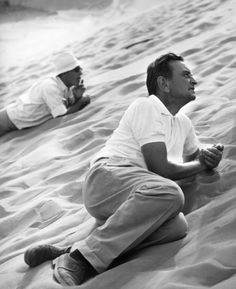 "David Lean (March 25, 1908 - April 16, 1991)  here on the set of ""Lawrence of Arabia"""
