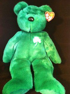 TY Erin Green Teddy Shamrock L Stuffed Animal Plush New St. Patricks Good Luck #Ty
