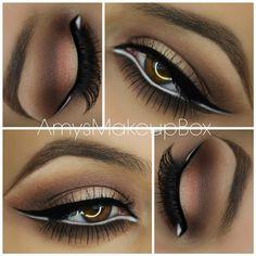 Una forma de como usar el delineador blanco, increíble para resaltar los ojos!!