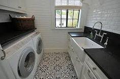 Även tvättstugor borde få fina golv!