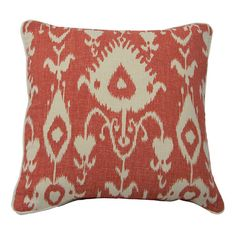 I pinned this Ikat Pillow in Raspberry & Cream from the Signature Pillows event at Joss and Main!