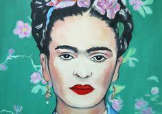 Kunst Malerei Bild     *Frida Kahlo II*    Kunst aus dem Atelier Art-Istique ein Bild von Frida Kahlo nach einem Foto gemalt.    Dieses Bild von Fr...