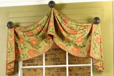 Pull-Up Valance by Pate-Meadows Designs - thinking of doing something like this for the arched window in my master....