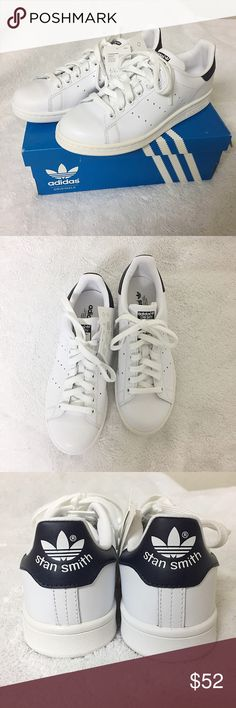 ADIDAS STAN SMITHS SHOES In white&navy. Shoes are in the size US MEN'S 6/WOMEN'S 8. Brand new! *Serious buyers only please* adidas Shoes Sneakers