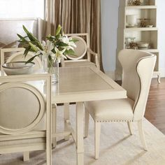 Bernhardt Salon Upholstered Wing Dining Chair